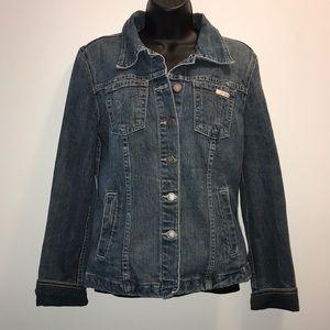 CALVIN KLEIN Vintage Jean Jacket~sz L~EUC